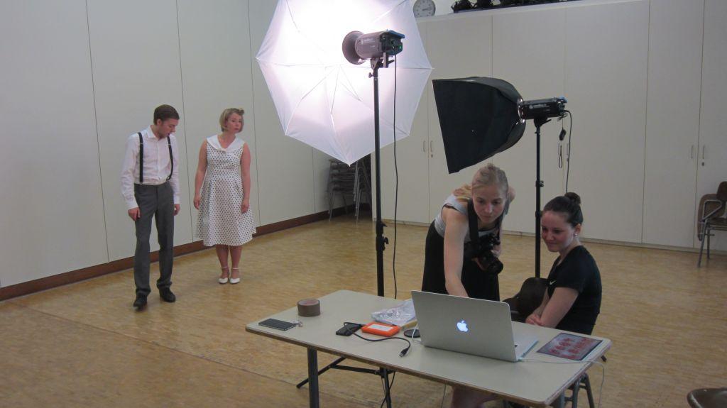 Die beiden Models Kathi und Fabian ...