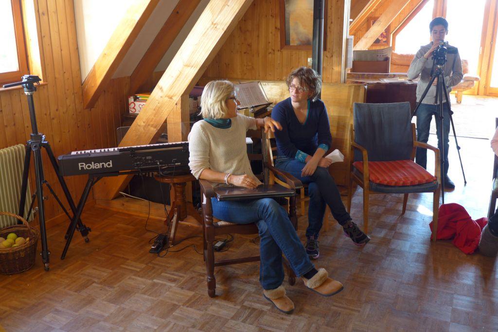 Ulrike Vogt, Mirza Brombacher mit Julian vom Filmteam