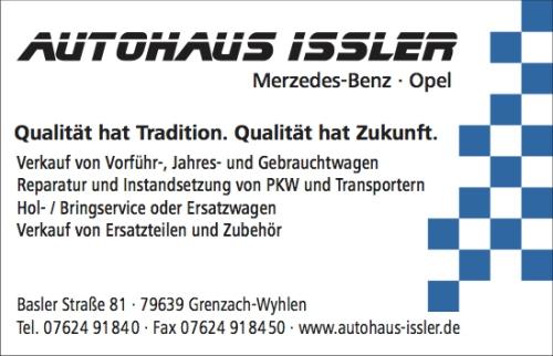 Logo Autohaus Issler innen halb sw